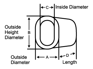 Aluminum Oval Sleeve Dimensions
